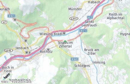 Stadtplan Strass im Zillertal