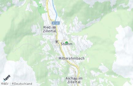 Stadtplan Stumm