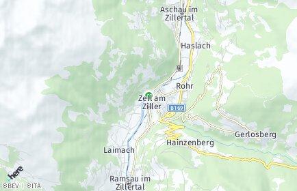 Stadtplan Zellberg