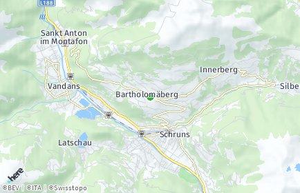 Stadtplan Bartholomäberg