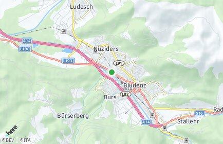 Stadtplan Bludenz OT Hintergastenz