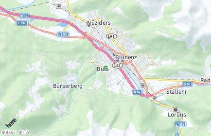 Stadtplan Bürs