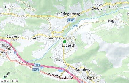 Stadtplan Ludesch