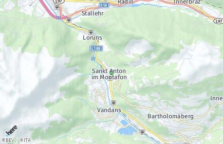 Stadtplan Sankt Anton im Montafon
