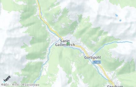 Stadtplan Sankt Gallenkirch