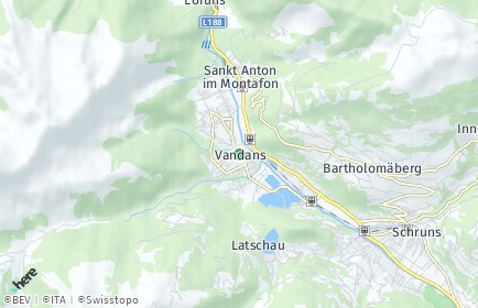 Stadtplan Vandans