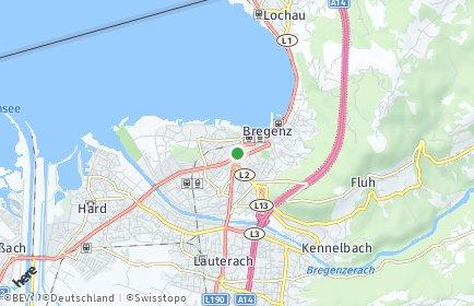 Stadtplan Bregenz
