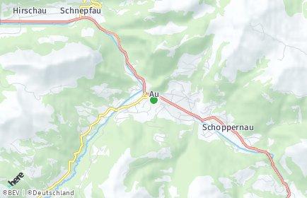 Stadtplan Au (Vorarlberg)
