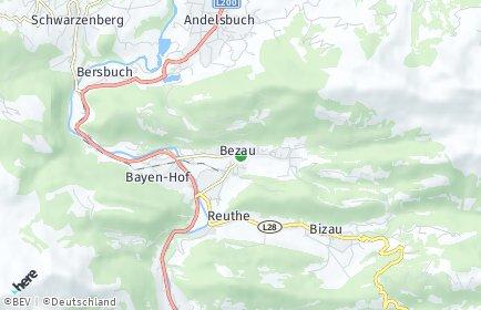 Stadtplan Bezau