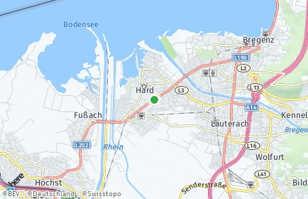 Stadtplan Hard