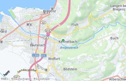Stadtplan Kennelbach
