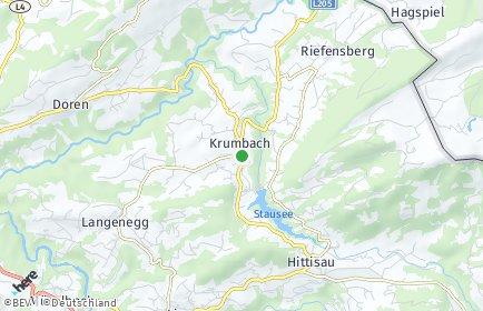 Stadtplan Krumbach (Vorarlberg)