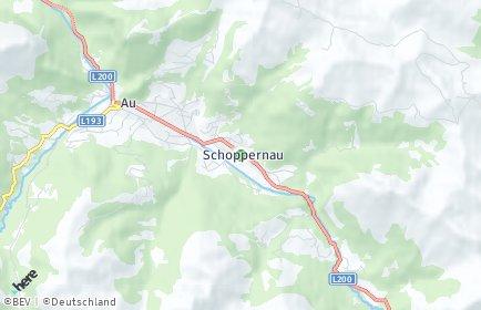 Stadtplan Schoppernau