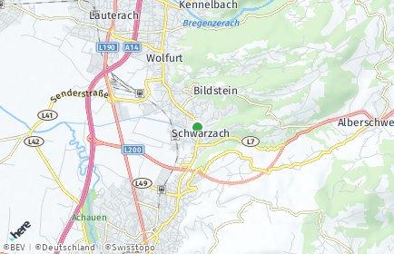 Stadtplan Schwarzach (Vorarlberg)