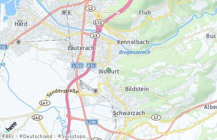 Stadtplan Wolfurt