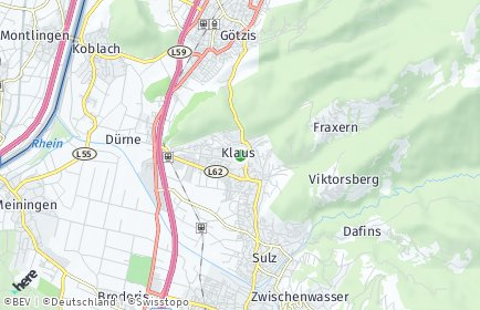 Stadtplan Klaus (Vorarlberg)
