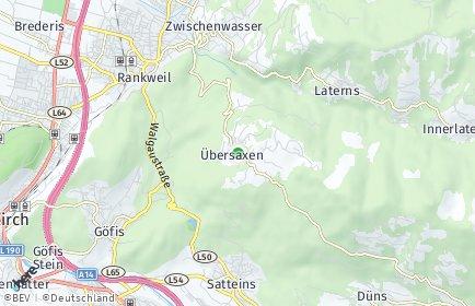 Stadtplan Übersaxen
