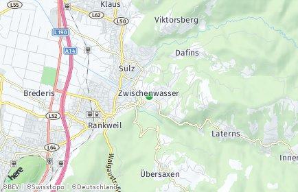 Stadtplan Zwischenwasser