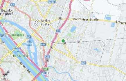 Stadtplan Wien OT Donaustadt