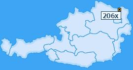 PLZ 206 Österreich
