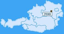 PLZ 3100 Österreich