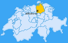 Bezirk Affoltern Landkarte