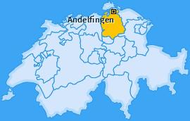 Bezirk Andelfingen Landkarte