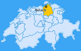 Bezirk Bülach Landkarte