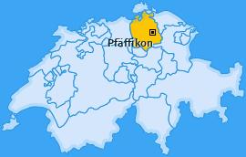 Bezirk Pfäffikon Landkarte