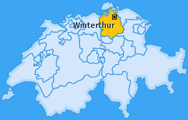 Bezirk Winterthur Landkarte
