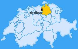 Bezirk Dietikon Landkarte