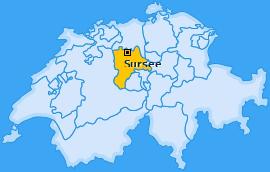 Amt Sursee Landkarte