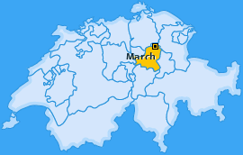 Bezirk March Landkarte