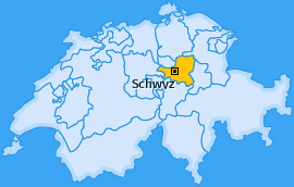 Bezirk Schwyz Landkarte