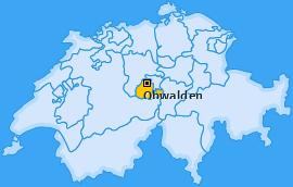 Kanton Obwalden Landkarte