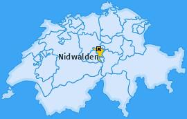 Kanton Nidwalden Landkarte