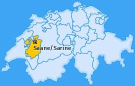 Bezirk Saane/Sarine Landkarte