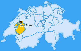 Bezirk See/Lac Landkarte
