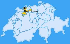 Bezirk Thierstein Landkarte