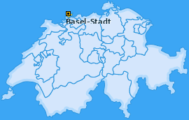 Kanton Basel-Stadt Landkarte