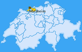 Bezirk Arlesheim Landkarte