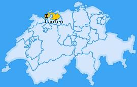 Bezirk Laufen Landkarte