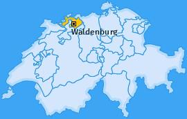 Bezirk Waldenburg Landkarte