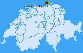 Bezirk Oberklettgau Landkarte