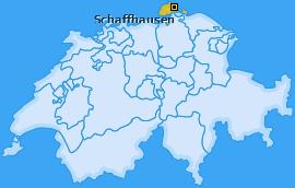 Bezirk Schaffhausen Landkarte