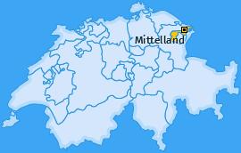 Bezirk Mittelland Landkarte