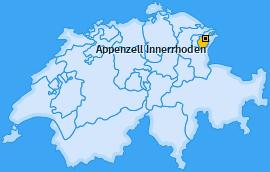Kanton Appenzell Innerrhoden Landkarte