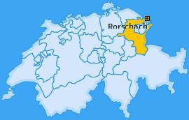 Wahlkreis Rorschach Landkarte
