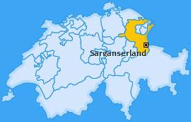 Wahlkreis Sarganserland Landkarte
