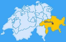 Bezirk Albula Landkarte